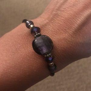 Jewelry - Purple stone wrap bracelet